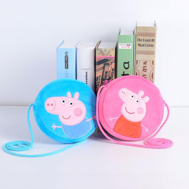 👶 BabyPa。Peppa Pig正版佩佩豬粉紅豬英國兒童斜肩小圓包 特價$180