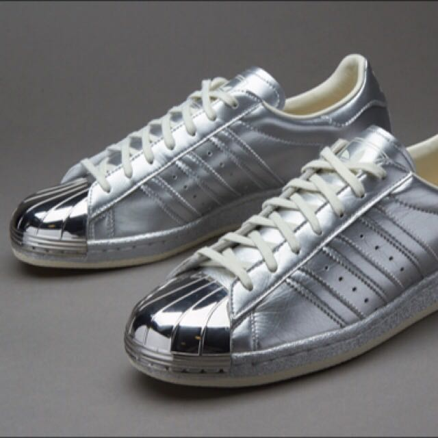 adidas superstar grey with silver toe cap  af393bd25