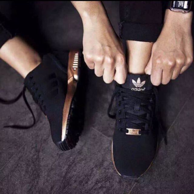 premium selection 8c59f e8458 Adidas ZX Flux Black / Copper (US 7.5)