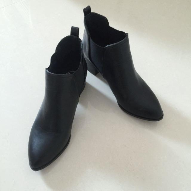 Air Space 跟鞋靴 37 黑色
