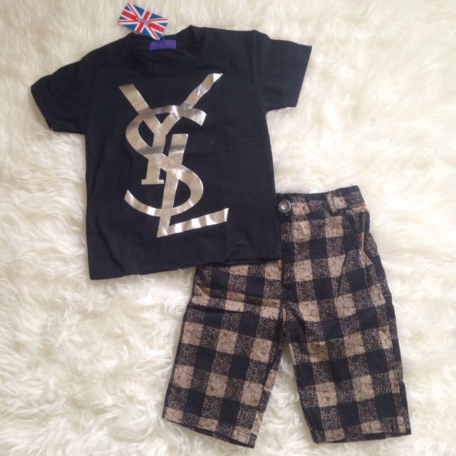 Baju Anak Setelan YSL - London Kids