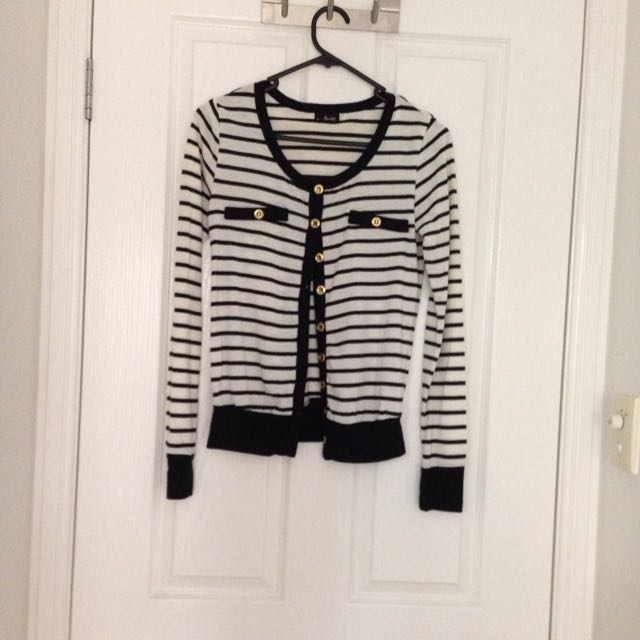 Bardot Striped Cardigan