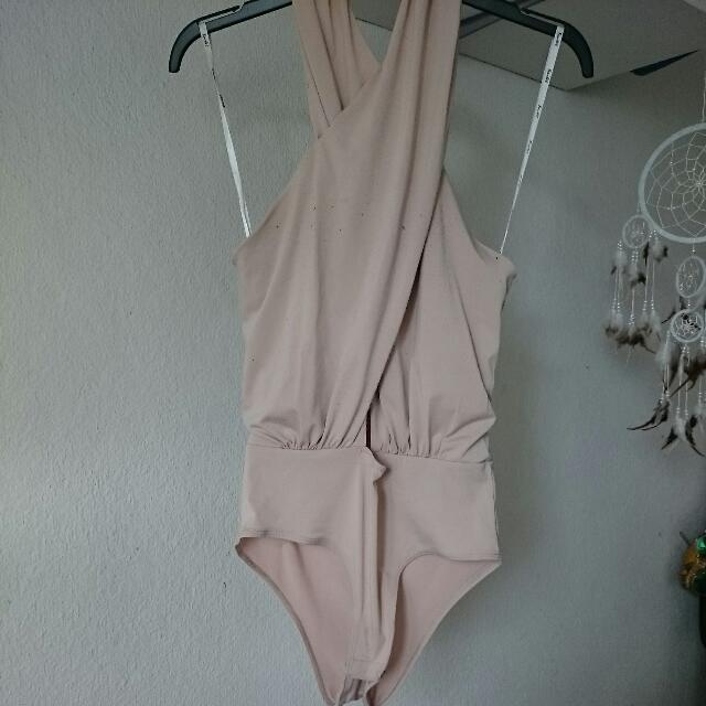 Bardot Wrap Front Body Suit