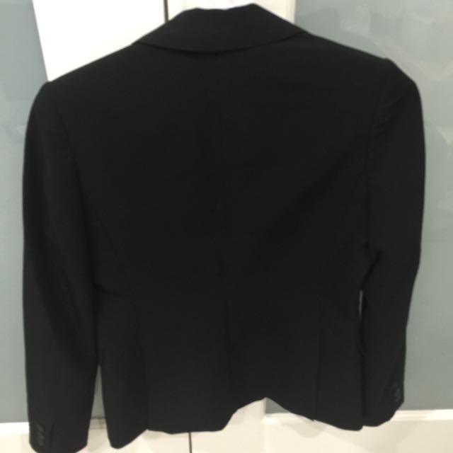 Basque Black Blazer - Size 8