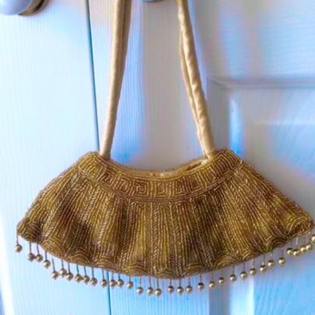 Beaded Gold Bag