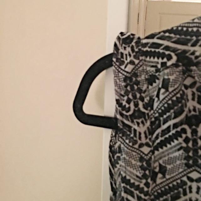 black&white chiffon dress