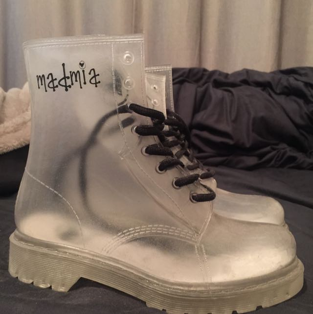 Clear Boots Size 36