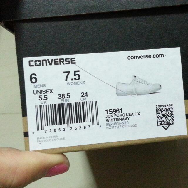 Converse Leather White Shoes / Jack Purcell