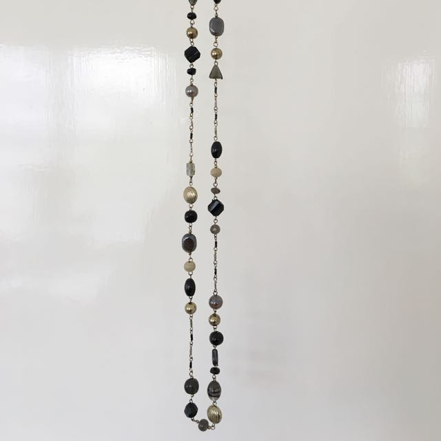 Dark Mixed Bead Necklace