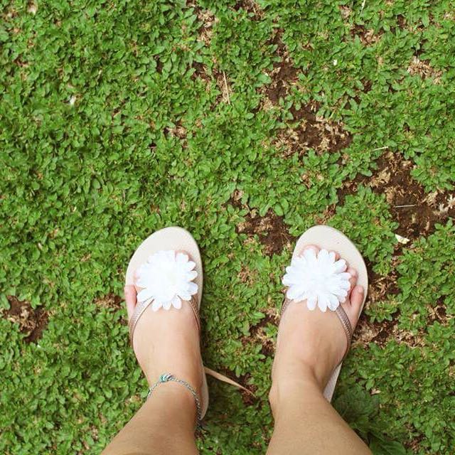 Flowery Slippers