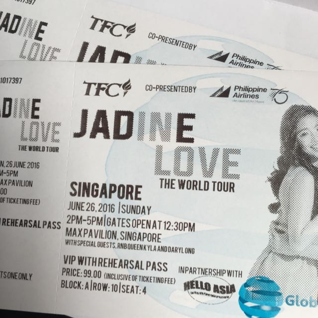 Jadine In Love Singapore Concert Vip With Rehearsal Pass
