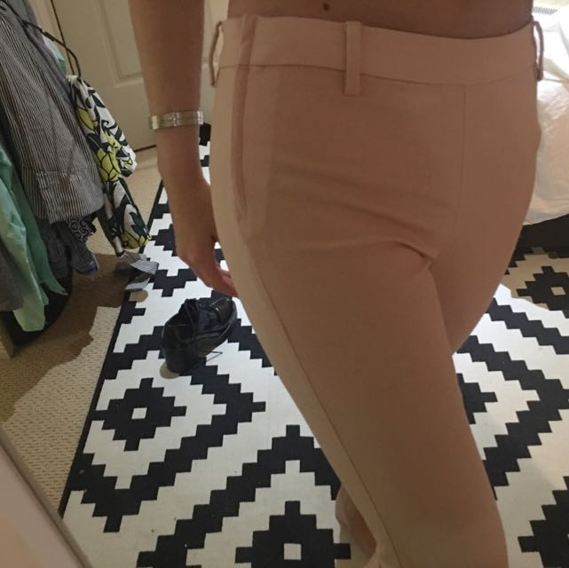 light pink h&m pants