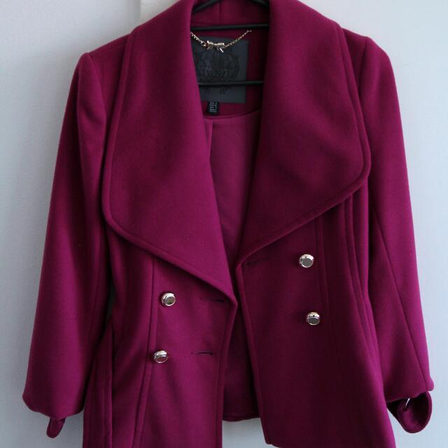 Magenta Winter Coat Size 8
