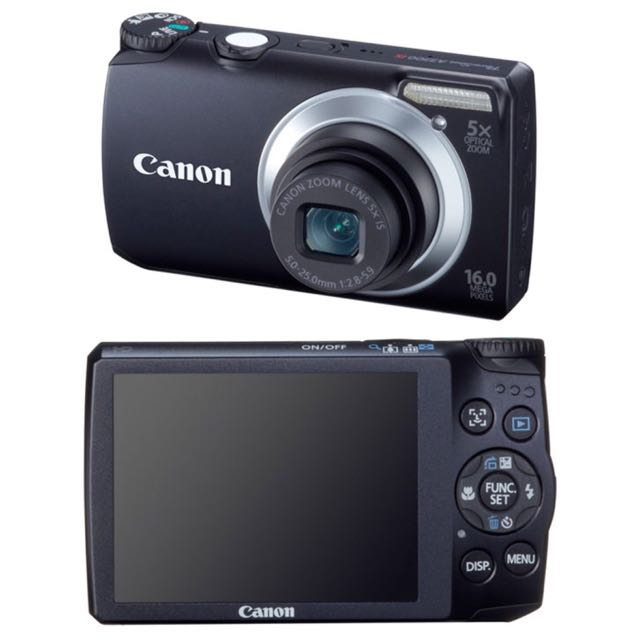(NEGOTIABLE) CANON POWERSHOT A3300 IS CAMERA (BLACK)