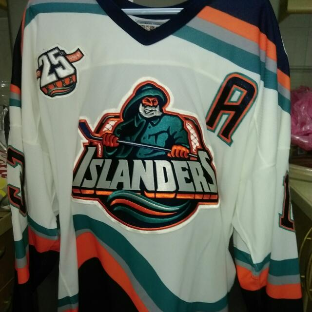 sale retailer 652ad b7929 NHL New York Islanders 25th Special Edition 3rd (Fisherman) Jersey Famouse  player LAPOINTE