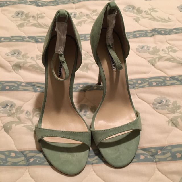 Pastel Green Heels With Ankle Strapd