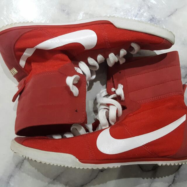 Red Nike High Tops