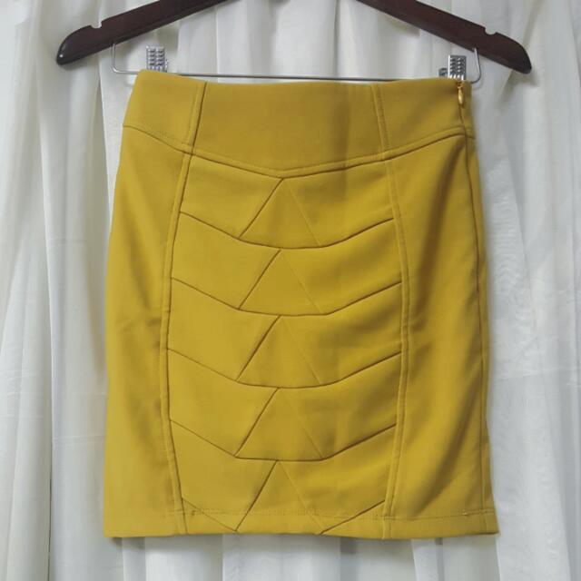 Skirt In Mustard