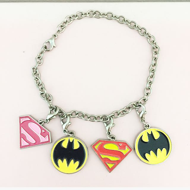 Superman & Batman Charm Set