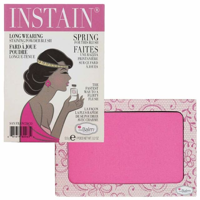 The Balm Instain Long Wearing Staining Powder Blush in 'Lace'.