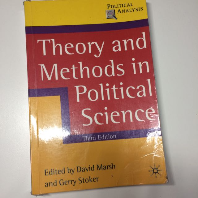Theory And Methods In Political Science Textbook