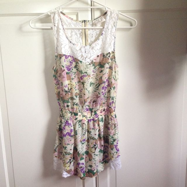 Urban Outfitters floral playsuit