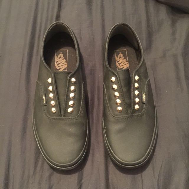 Vans Black Stud Shoes