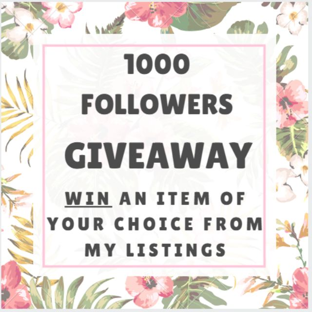 No Purchase Needed! -WIN AN ITEM OF YOUR CHOICE FROM MY LISTINGS!