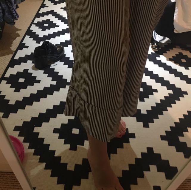 Zara Culottes in Silk Stripe