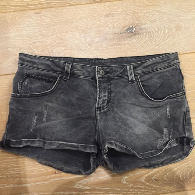 Zara Grey Denim Short