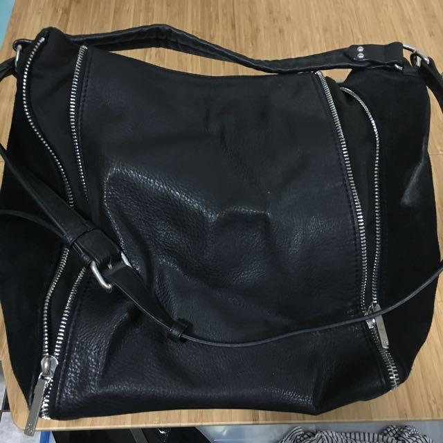 Zara Leather Slouch Handbag