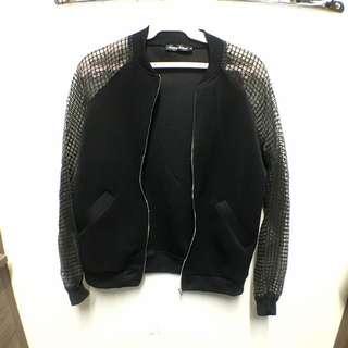 Sheer Sleeve Bomber Jacket From Something Borrowed