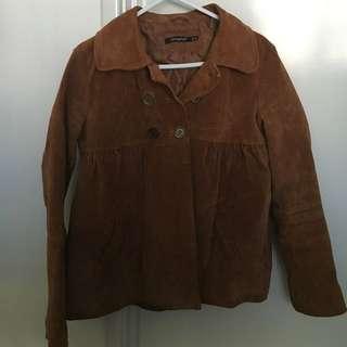 Brown Suede Jacket Size 10