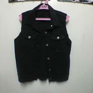 Folded & Hung Short Denim Vest
