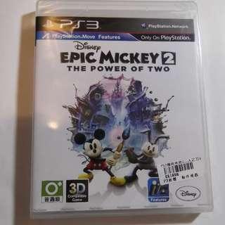 全新未拆 PS3 傳奇米奇 2:二人之力