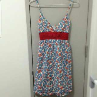 BNWOT Prinxess Highway Size 8 Dress Blue White And Red