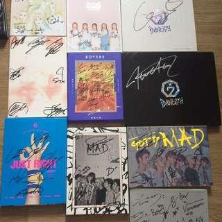 SIGNED KPOP ALBUMS - GOT7, BTS, RED VELVET, SEVENTEEN