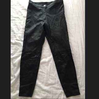 NEW Black Leather Pants