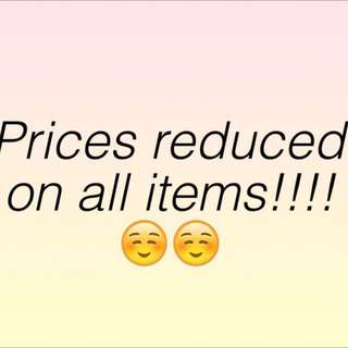 Mark Down On All Items :)