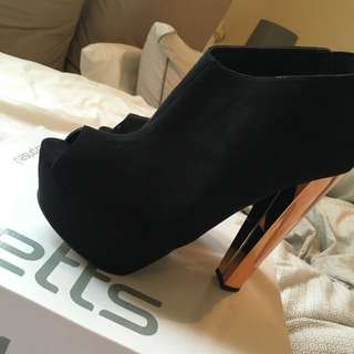 Rose Gold Heeled Shoes