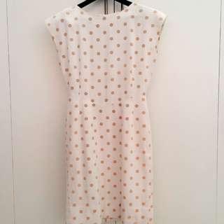 Off White Polkadot Dress