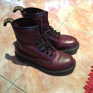 Pre-loved Doc Marten Boots - Maroon