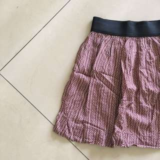 Cotton On - Maroon Patterned Skirt
