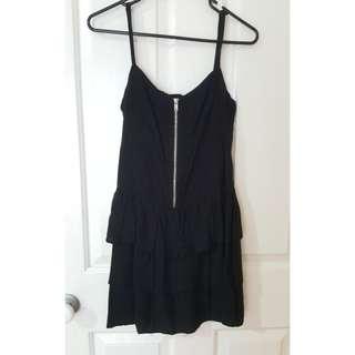 Cute Black Dress Zipper Detail Size 10
