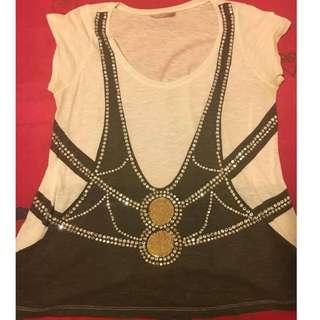 SASS & BIDE sequinned shirt / top size medium