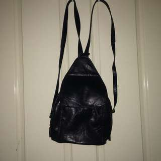 1970s Vintage Authentic Leather Backpack
