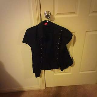 BUNDLE PACK Size 12 Black Button Up Shirts