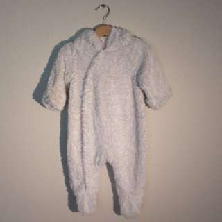 Cute White Pumpkin Patch Baby Romper