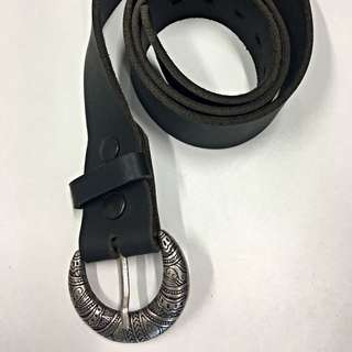 Black Leather And Silver Belt
