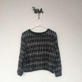 ZARA Checkered Knit